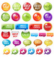 retail badges vector image