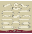 Vintage banners set vector image