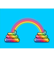 Turd unicorn and rainbow Appearance of rainbow vector image