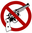 No Guns Allowed vector image vector image