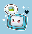 kawaii tablet picture image vector image