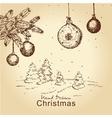 vintage christmas set vector image vector image