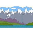 alpine landscape vector image