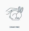 animal cruelty free logo vector image