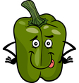 cute green pepper cartoon vector image