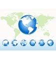 Global spheres vector image