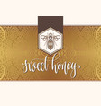 sweet honey logotype design with hand lettering vector image