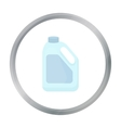Bottle milk icon cartoon Single bio eco organic vector image