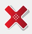 aid sticker sign  new year reddish icon vector image
