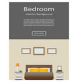 web banner of modern bedroom interior with vector image vector image