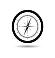 compass black vector image