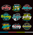 Set of sport badges Graphic design for t shirt vector image
