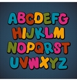 Hand drawn cartoon doodle font vector image vector image