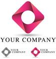 pink ribbon logo vector image vector image