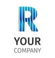 Abstract blue logo R vector image