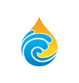 abstract wave waterdrop style logo vector image