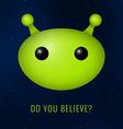 Alien head vector image