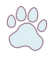animal foot print icon vector image