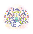 hello easter card design vector image