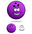 Lucky cartooned bowling ball vector image