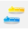 realistic design element train vector image