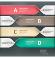 Spiral infographics options banner vector image