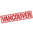 Vancouver red square stamp vector image