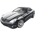 black sport car vector image vector image