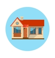 Flat house icon isolated on white background vector image vector image