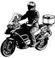 motorcyclist 2 vector image