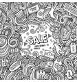 cartoon cute doodles sale frame vector image