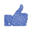 thumb up sketch vector image