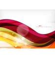Purple and orange color lines vector image vector image