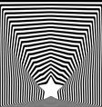 Star black stripes optical visual art effect vector image