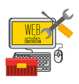 under construction website vector image