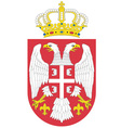 serbian coat of arms vector image vector image