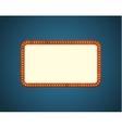 Rectangle road billboard vector image