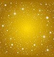background Golden starry sky Eps 10 vector image