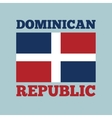 dominican republic country flag vector image