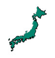 japanese map island tourims destination vector image