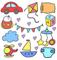 object baby doodle set vector image