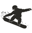 snowboarding silhouette vector image