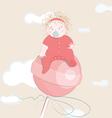 sweet little girl on the lollipop vector image