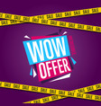 wow offer banner in modern style vector image