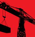 Working crane background vector image