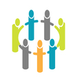 People around circle logo vector image vector image