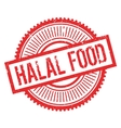 Halal food stamp vector image