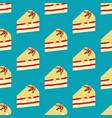 cake dessert seamless pattern vector image