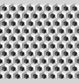 abstract background with cubes in black and white vector image vector image