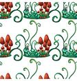 A seamless design with worms in a garden vector image vector image